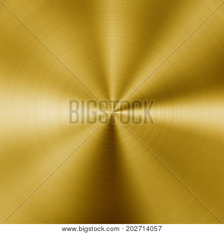 Shiny circular golden metal background