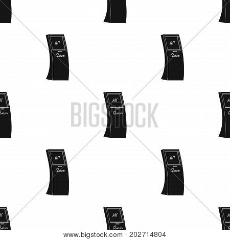 Queue, access terminal. Terminals single icon in black style isometric vector symbol stock illustration .