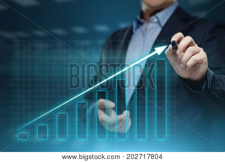 Financial Graph. Stock Market chart. Forex Investment Business Internet Technology concept.