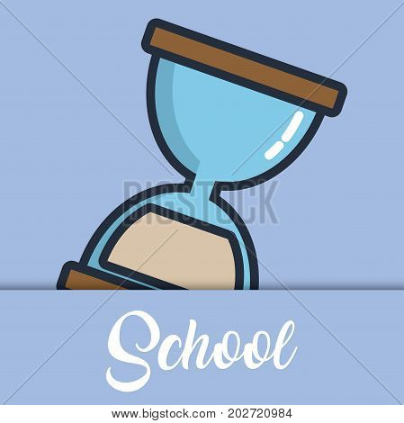 hourglass icon over blue background colorful design vector illustration