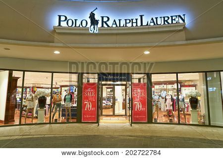 BUSAN, SOUTH KOREA - MAY 25, 2017: Polo Ralph Lauren store at Lotte Mall in Busan.