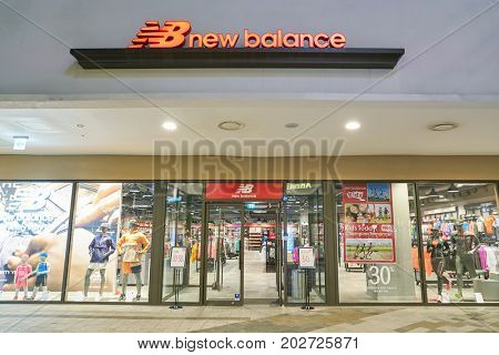 BUSAN, SOUTH KOREA - MAY 25, 2017: New Balance store at Lotte Mall in Busan.