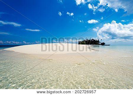 Beautiful View Of Sibuan Island Located In Semporna In The Vicinity Of Sipidan Island And Tun Sakara