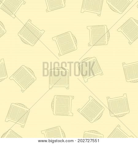 Modern Style House Heating Theme Vector Seamless Pattern. Perfect for site background package and other endless fill.