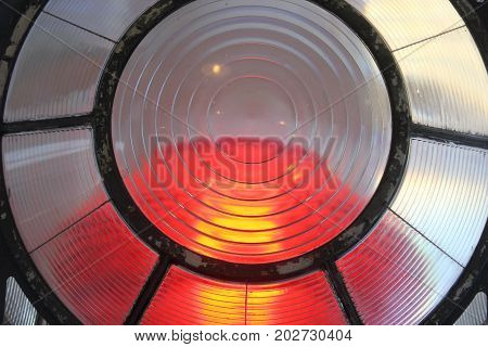 A lighthouse lens at Sleeping Bear Dunes National Lakeshore, Michigan