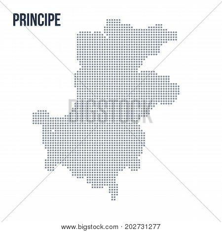 Vector Dotted Map Of Principe Isolated On White Background .
