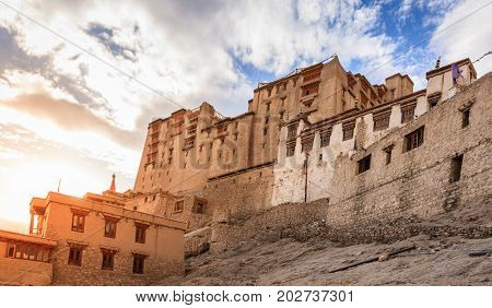 Leh Palace on Tsemo Hill in Leh, Ladakh, India
