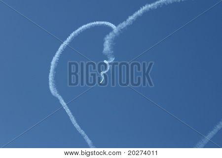 Heart in the sky. Smoke way