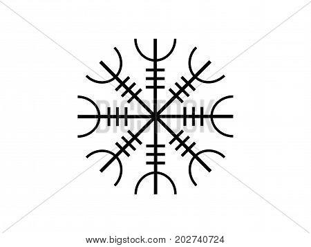 Galdrastafir. Icelandic Symbol, Intertwined Runes. Vector Illustration