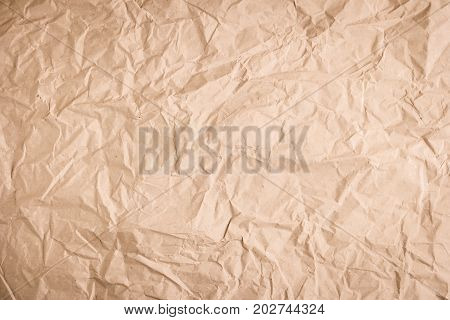 Crumpled paper texture. Recycled paper background. Old paper