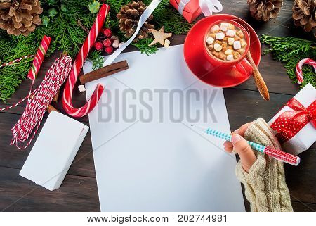 Little Girl Writes Letter To Santa Claus