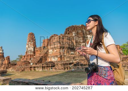 Pretty Elegant Woman Holding Mobile Cell Phone