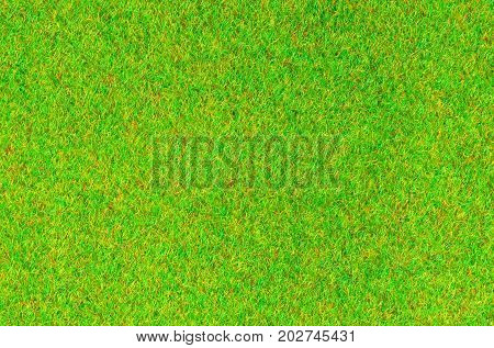 Artificial green grass turf flannel for texture and background