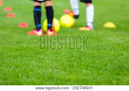 Soccer Practice Session