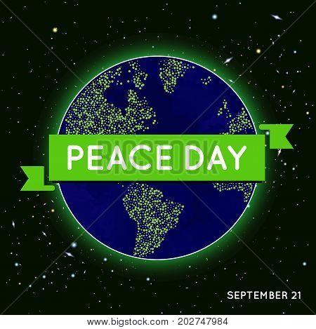 International Peace Day in September in Vector