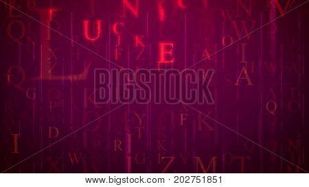 Electronic Letters In Purple Cyberspace