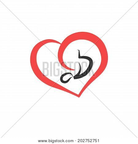 Pregnancy emblem. Vector flat icon of embryo.