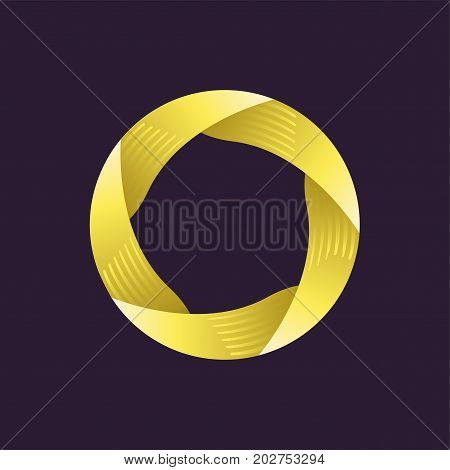 Circle creative logo design template. Vector illustration
