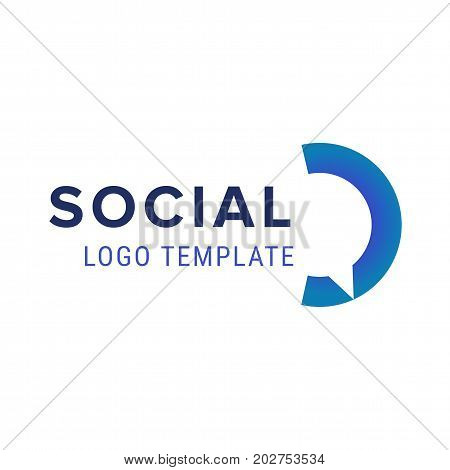 Chat logo icon. Vector chat logo design template. Abstract communication vector logotype.