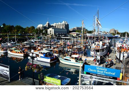 Victoria BC,Canada,September 5th 2015.The annual Classic Boat festival held each September long weekend in Victoria BC.Classic vessels from all over the Pacific Rim come to show off their boats at the festival.Come to Victoria and see for yourself.