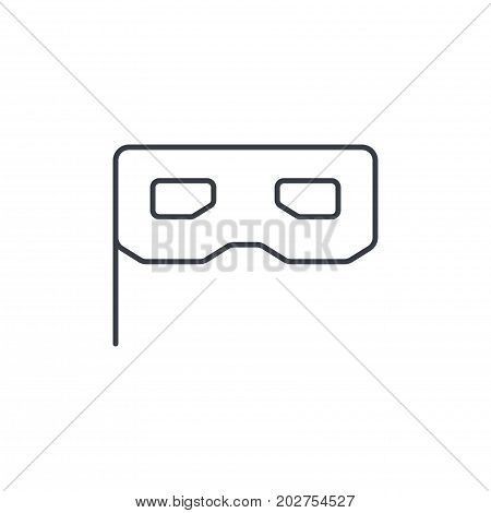 Privacy, mask, masquerade thin line icon. Linear vector illustration. Pictogram isolated on white background