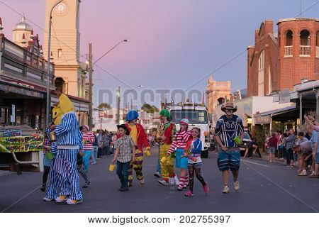 Charters Towers Australia - April 28 2017: Participants in the annual street parade for the 40th Charters Towers Country Music Festival