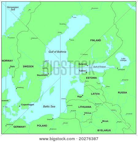Sea maps series: Baltic Sea, Norwegian Sea