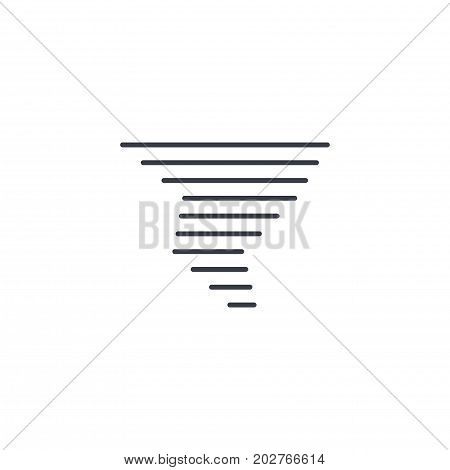 tornado, storm weather, whirlwind thin line icon. Linear vector illustration. Pictogram isolated on white background