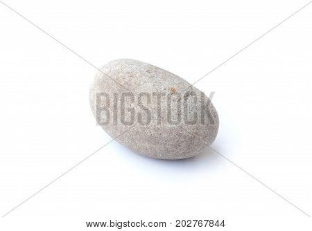 Pebbles stone heap of stones isolated on white background sea pebble