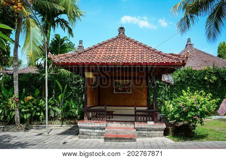 Wooden House With Garden In Bali, Indonesia