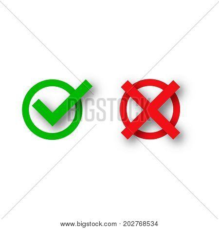 Check mark icon  Green check mark icon  Tick symbol in green color vector illustration