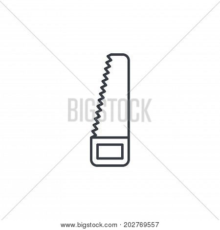 saw thin line icon. Linear vector illustration. Pictogram isolated on white background