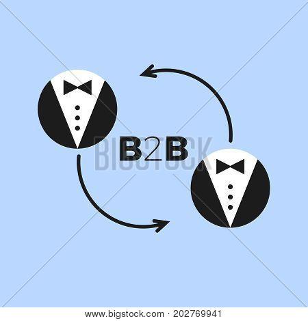 b2b icon vector  marketing business corporate symbol