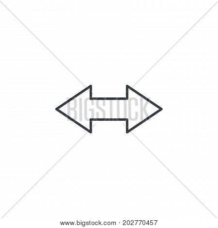 Arrow Exchange thin line icon. Linear vector illustration. Pictogram isolated on white background