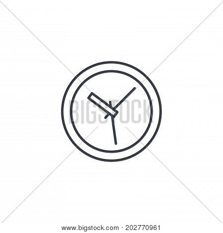 clock thin line icon. Linear vector illustration. Pictogram isolated on white background
