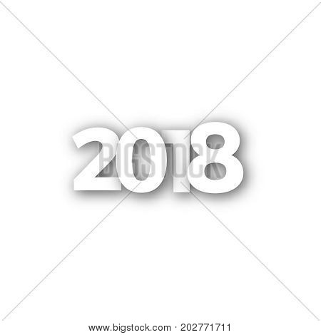 2018 Happy New Year or Christmas Background creative greeting card design, can be used for flyers, invitation, posters, brochure, banners, calendar
