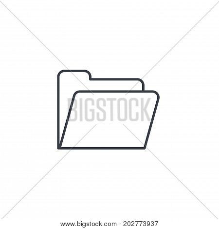 File folder thin line icon. Linear vector illustration. Pictogram isolated on white background