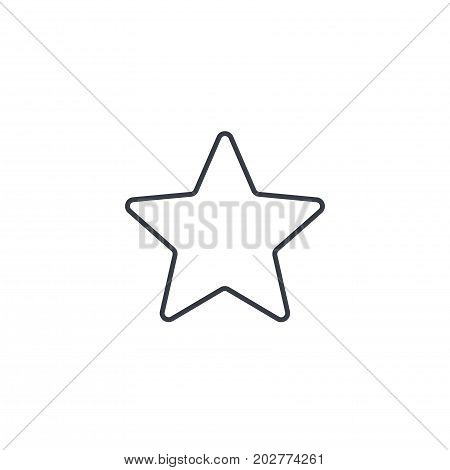 five-pointed star, bookmark thin line icon. Linear vector illustration. Pictogram isolated on white background