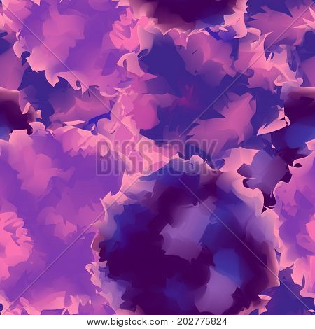 Violet Seamless Watercolor Texture Background. Neat Abstract Violet Seamless Watercolor Texture Patt