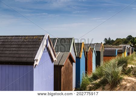 Beach Huts Up Close