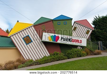 Wanaka, New Zealand - May 24, 2012: Puzzling World View, A Tourist Attraction In Wanaka Town.