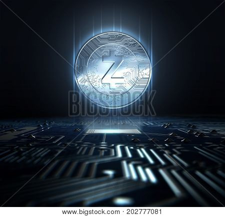 Cryptocurrency And Circuit Board
