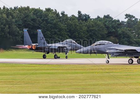 F-15E Stike Eagle Departs Lakenheath