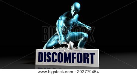 Get Rid of Discomfort and Remove the Problem 3D Illustration Render