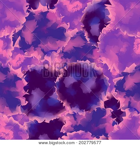 Violet Seamless Watercolor Texture Background. Breathtaking Abstract Violet Seamless Watercolor Text