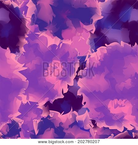 Violet Seamless Watercolor Texture Background. Attractive Abstract Violet Seamless Watercolor Textur