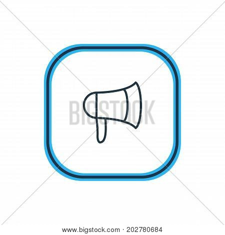 Beautiful Movie Element Also Can Be Used As Megaphone Element.  Vector Illustration Of Bullhorn Outline.