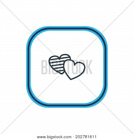 Beautiful Feast Element Also Can Be Used As Soul Element.  Vector Illustration Of Heart Outline.