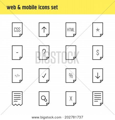 Editable Pack Of Percent, Style, Remove And Other Elements.  Vector Illustration Of 16 Paper Icons.