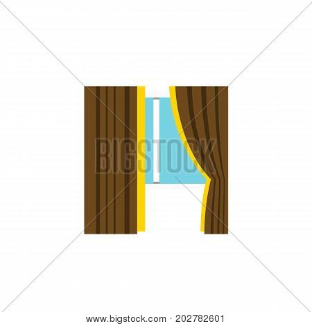 Glass Vector Element Can Be Used For Frame, Glass, Window Design Concept.  Isolated Frame Flat Icon.